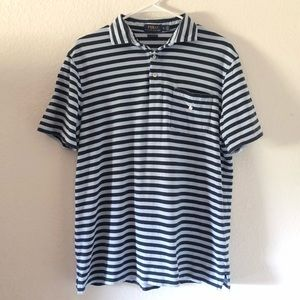Ralph Lauren Polo classic fit blue stripes shirt